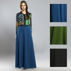 длинная синяя юбка