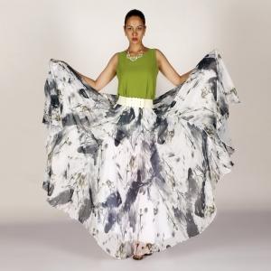 модная юбка в пол