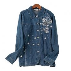 VTB0219 Джинсовая куртка с вышивкой