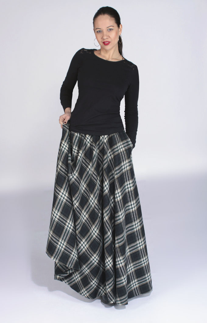 Выкройка длинная зимняя юбка