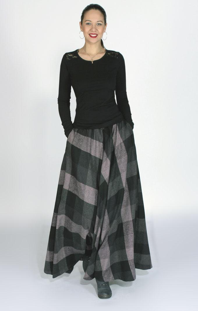Тёплая юбка своими руками 87